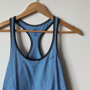 L.A. Gear Blue and White Striped Tank Top